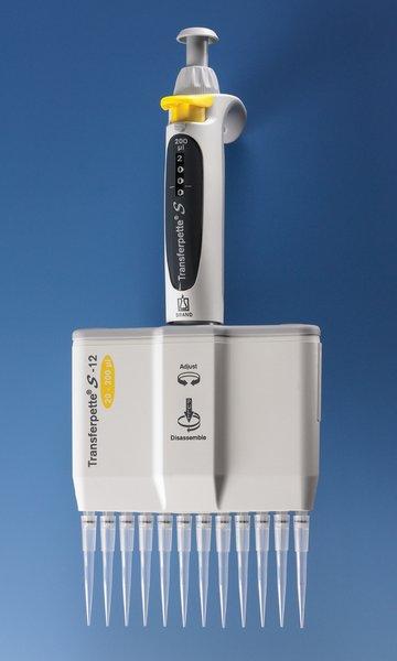 供应多通道微量移液器,Transferpette® S -12十二通道移液器,数字可调量程,型号M12-200,20 - 200 µl