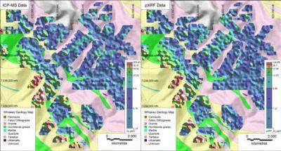 用于在矿产勘探和矿体定向应用中探测金元素ぷ和金探途元素的便携式XRF分析仪