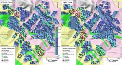 用于在矿产勘探和矿体定向应用中探测金元素和金探途元素的便携式XRF分析仪
