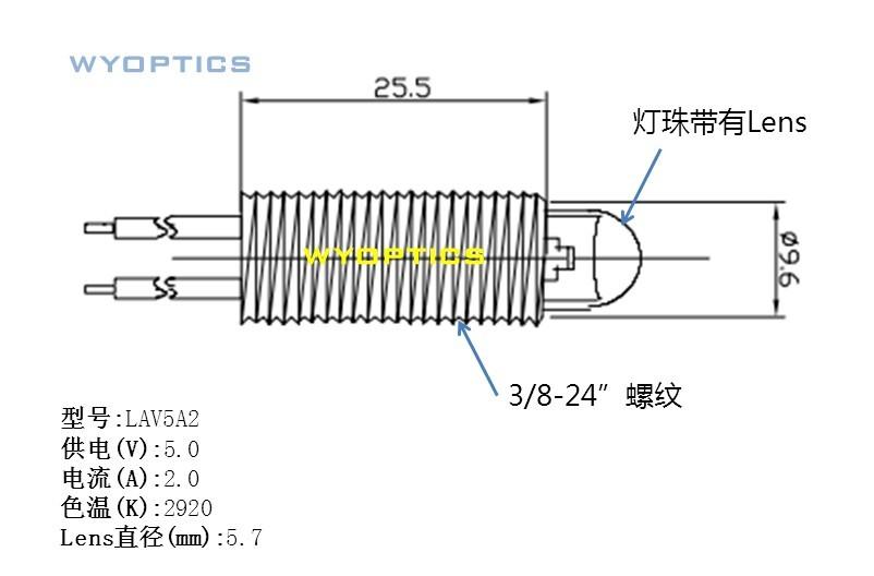 上海闻奕光电卤素灯 光纤检测 5V12V/0.5A 1A 2A灯泡 上海闻奕光电卤素灯 光纤检测 5V12V/0.5A 1A 2A灯泡 1、采用进口仪器专用高品质灯泡,寿命长达1W小时(标配)的卤素灯泡; 2、光源输出强度可以通过电位调节器调节灯丝电流,便于各种实验应用; 3、体积小,尺寸为:40mm*70mm*55mm;具体结构参数请来电咨询; 4、采用风冷式散热,使用过程中,请勿挡住进出风口; 5、采用5V2A直流供电; 6、光源灯泡属于耗材,请在寿命达到前更换; 7.