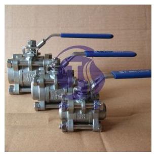 上海济圣其它行业专用仪器Q11F-16P带锁三片式球阀