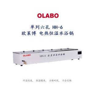 單列六孔 HH-6 歐萊博 電熱恒溫水浴鍋