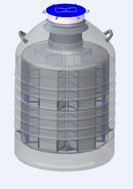 山东博科液氮罐 大口径实验室专用系列液氮罐