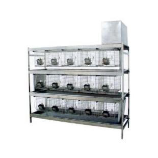 15位冲洗式兔笼架  实验室饲养设备
