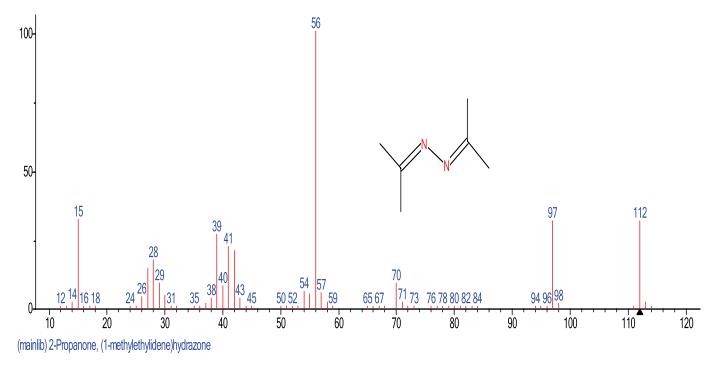 图2.水合肼衍后产物的质谱图.png
