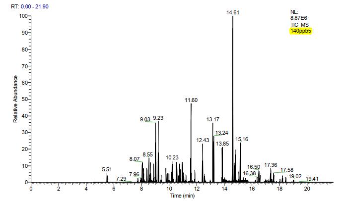 图1.标准溶液总离子流色谱图(100 µg/L).png