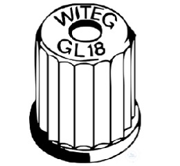 SCREW CAP, TOP WITH HOLE, GL 32