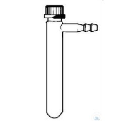 SUCTION TUBE WITH SIDE HOSE CONN.  LENGTH 200 MM, GL 32, SCREW CAP WITH HOLE,  GASKET W. PTFE-WASHER