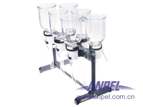六位膜片固相萃取圆盘(全套,含6个滤杯、收集管和PTFE支撑盘)