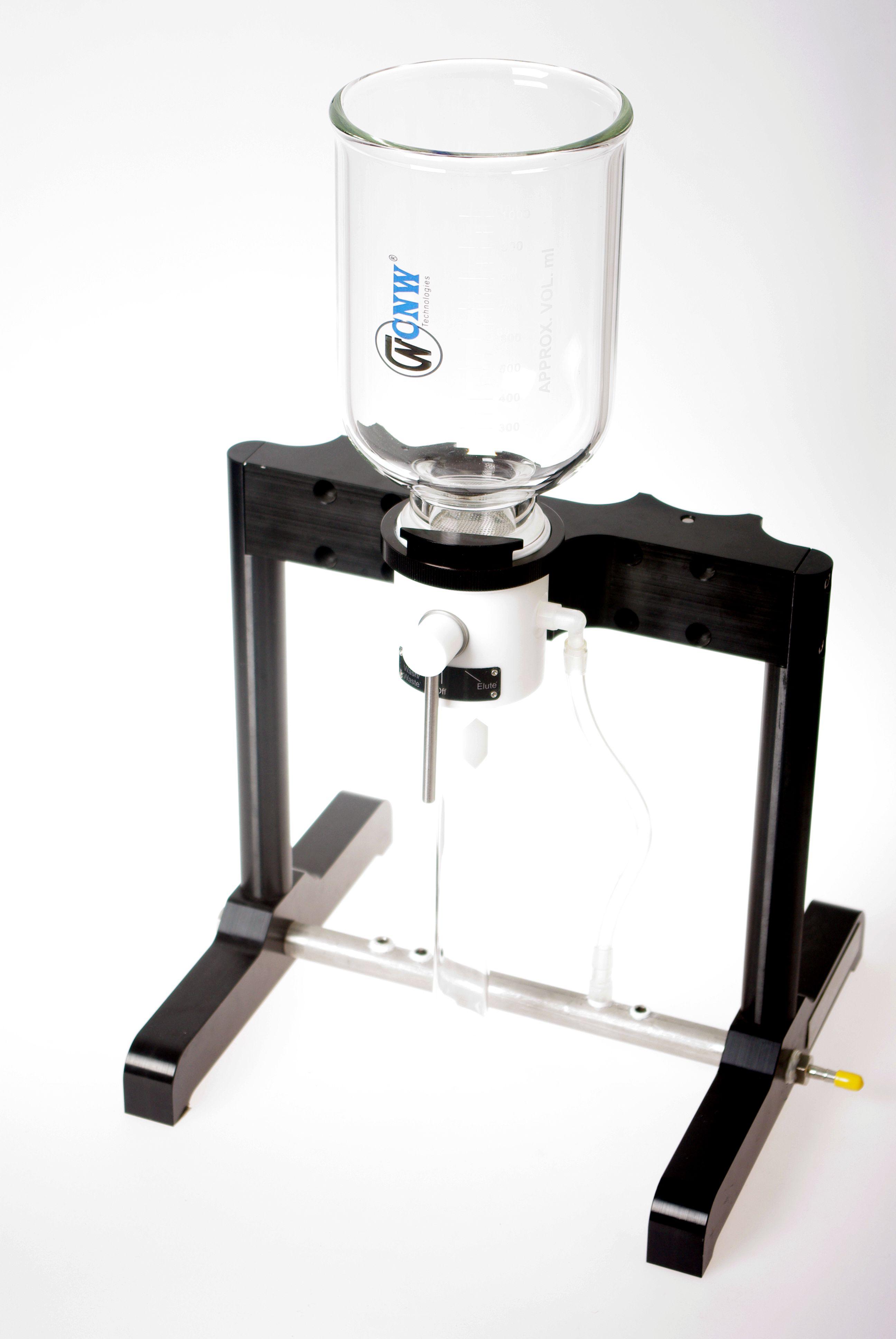 一位膜片固相萃取圆盘(含1套滤杯、收集管和PTFE支撑盘和黑色支架)