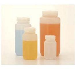 氟化广口瓶,氟化高密度聚乙烯;氟化聚丙烯螺旋盖,500mL容量