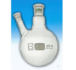 FLASKS, W. SIDE NECK AT AN ANGLE OF 20°,  ACC. TO DIN 12394, 2 000 ML, CN ST 29/32 SN ST 19/26