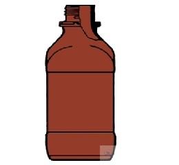 1L 棕色方形宽口试剂瓶, GL54,无倾倒环及防尘盖