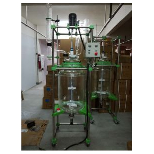 宏华仪器反应釜/反应器S212-100L玻璃反应釜/双层玻璃反应釜/玻璃双层反应釜