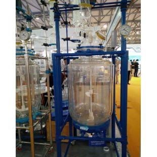 双层玻璃反应器YSF-100L,采用高硼硅玻璃