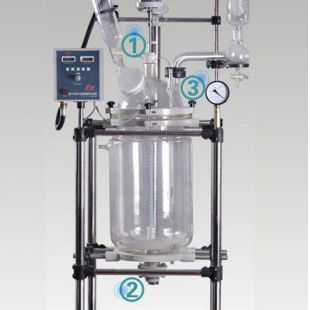予华仪器厂家直销双层玻璃反应釜YSF-100L,质量有保证