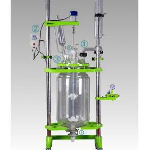 厂家低价订制玻璃反应釜 可根据用户工艺要求进行规划制作