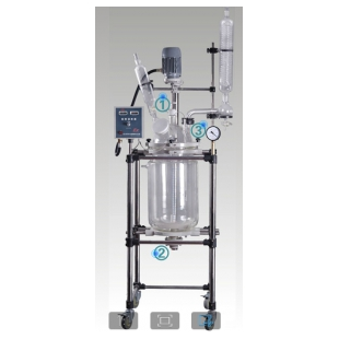 双层玻璃反应釜认准巩义予华商标质量有保障