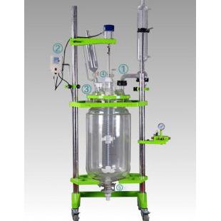 高性能玻璃反应釜 双层|三层变频调速玻璃反应釜