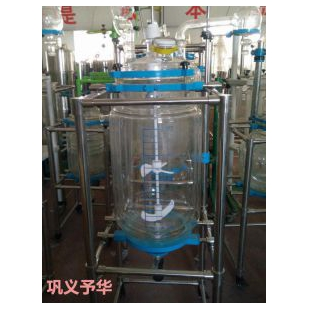 YSF双层玻璃反应釜可加(EX)防爆电机系统