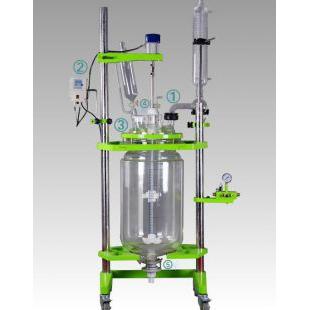 经济实用出口型玻璃反应釜 耐强腐蚀双层玻璃反应釜