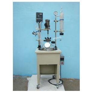 单层玻璃反应釜 是化学小样 中样实验生物制药理想设备