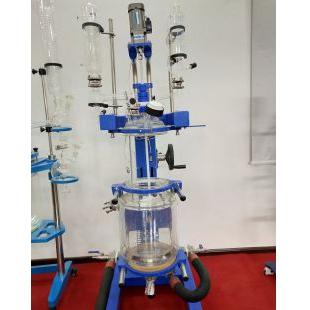 可旋转可升降双层玻璃反应釜,全新设计,无死角放料,国内首创