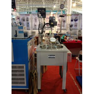 100L单层玻璃反应釜 自带加温制冷盘管 经济又实用