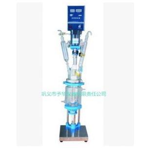 小容积单双层玻璃反应釜 聚四氟乙烯密封真空度高