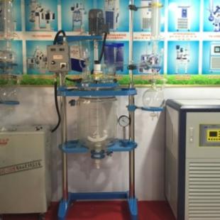 变频调速大口径双层玻璃反应釜  耐腐蚀测温准