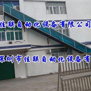 户外工厂不同楼层斜坡出货滑梯
