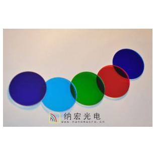 深圳纳宏光深圳有色镀膜玻璃蓝玻璃红玻璃黑玻璃生产厂家电滤光片