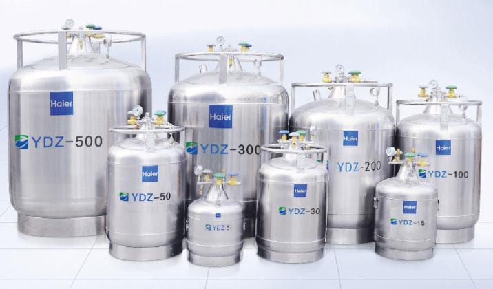 YDZ-300低溫儲存型不銹鋼液氮生物容器