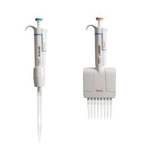 1-10μl微型管嘴 Finnpipette F1 12道手动可调移液器(整支消毒)