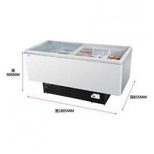 卧式岛柜玻璃门冷藏冷冻转换商用大冰柜