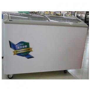 卧式透明玻璃门商用冷冻柜冰柜大容量