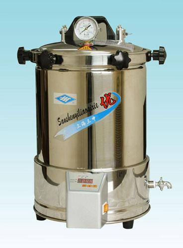 YX-280A*手提式不锈钢压力蒸汽灭菌器(定时数控)