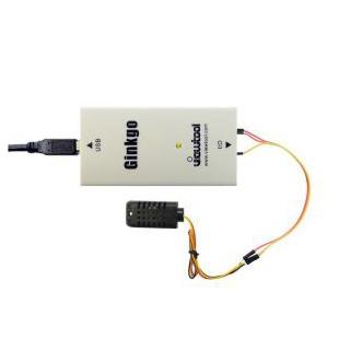 深圳纬图Ginkgo USB-I2C适配器控制AM2321B温湿度检测模块数据采集的温湿度检测仪
