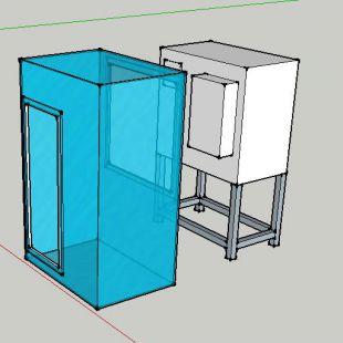 有機玻璃除粉塵手套箱、操作箱
