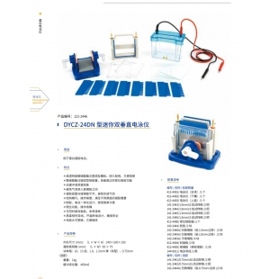 北京辙辕DYCZ-24DN型迷你双垂直电泳仪