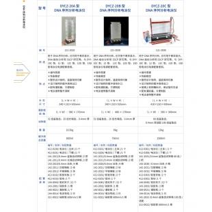 北京辙辕DYCZ-20B DNA序列分析电泳仪
