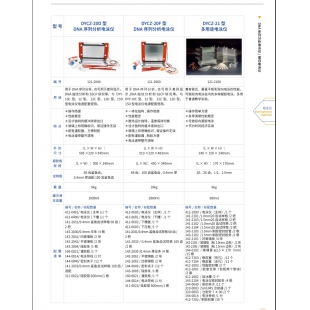 北京辙辕DYCZ-20F型DNA序列分析电泳仪