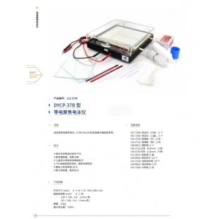 北京辙辕DYCP-37B型等电聚焦电泳仪