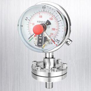 安克仑特不锈钢耐震隔膜电接点压力表 AKLT-YC