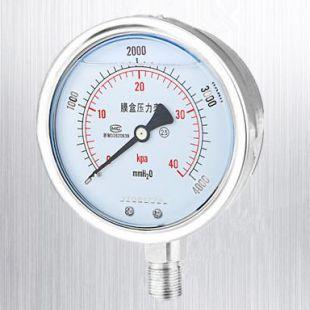 安克仑特不锈钢耐震微压膜盒压力表 AKLT-YE