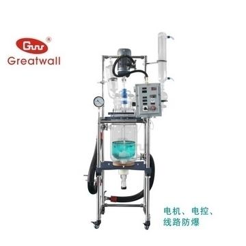 鄭州長城科工貿防爆調速玻璃反應釜GR-10Ex(單層)