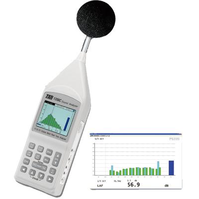 臺灣泰仕1/1 及 1/3 八音度實時音頻分析儀TES-1358C