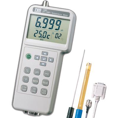 台湾泰仕酸碱度、氧化还原、温度测试计TES-1380K