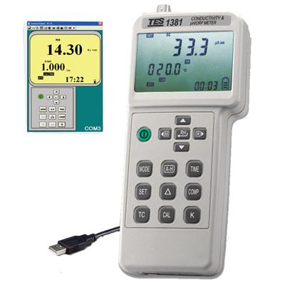 台湾泰仕电导计、酸碱度计、氧化还原电位计TES-1381K