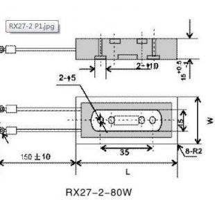 RX27-2系列 瓷壳线绕固定电阻器